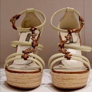 Louis Vuitton Monogram Flower Wedge Sole Sandal